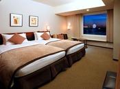 ◆ハース・ハーモニールーム◆アースカラーを基調とした落ち着きのある空間。やさしく包み込むベッドや植物の力を生かしたアメニティが上質なホテルステイをお約束します。