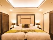 エグゼクティブフロアのベッドは「ハリウッドツインスタイル」でご用意。ゆったりとお休みいただけます。