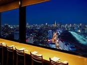 「味街道 五十三次」内「寿司 日本橋」からの夜景イメージ
