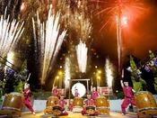 鐘山苑夏祭り/太鼓と花火のコラボショー ※開催期間はお問合せ下さい