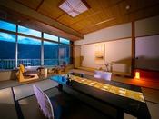 【錦帯橋側◆和室 12.5畳】 日本三大名橋・錦帯橋を望む『絶景客室』。広さを求める方にもおすすめ♪
