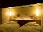 高層階、畳+快適ベッド(一例)