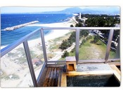 絶景日本海と大山を望む露天風呂