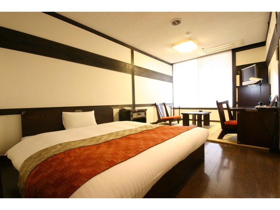 ダブルルーム 部屋の広さ:28平米 ベッドサイズ:1,600mm×2,100mm