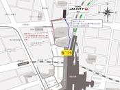 仙台駅西口2階 2-8 出口 から出ていただきます。