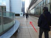 仙台パルコ東側のペデストリアンデッキを北側へ進みます。