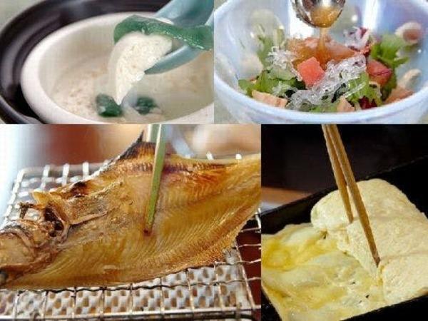 加賀野菜を中心とした朝食は高評価!