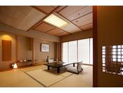 利根川亭客室 川側 12.5畳 利根川を望む広々とした和室です。
