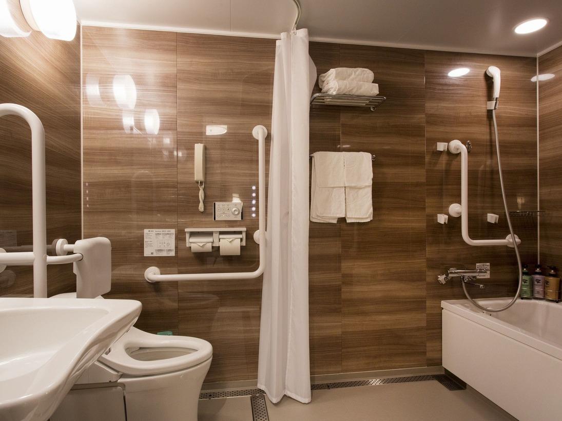 【客室設備】ユニバーサルルームのバスルーム