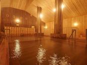 【大浴場】日本一と言われる強酸性のph値は1.2!刺激が強い泉質になります。