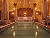 【大浴場】源泉100%は強酸性のため、刺激がございます。