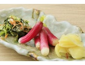 山形のお漬物「おみ漬け」ホカホカご飯と一緒にお召し上がりください。
