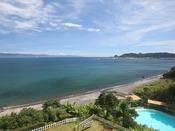 【海側 景観】 バルコニーに出れば大隅半島から開聞岳まで一望できます。