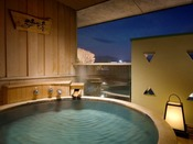 ゆらく山彦亭「話楽」/客室付露天風呂(一例) ※晴天時には富士山が望めます