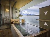 ゆらく山彦亭孝楽/客室付露天風呂 ※晴天時には富士山が望めます