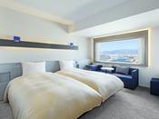 【客室】ツイン/24平米/スタイリッシュな空間で上質なホテルステイを。