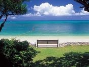 ベンチに座って、波の音と潮風に癒されてみてはいかがですか。