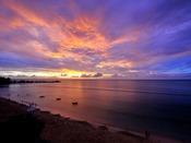 天気が良ければ水平線に沈む夕日を見ることできます。