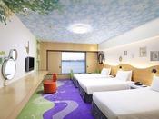 【ハッピーマジックルーム】人気No.1!! 魔法の森をテーマにした、ヒルトン東京ベイオリジナルの客室です。