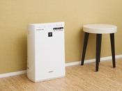 全ての客室にに加湿機能付き空気清浄機をご用意しております。