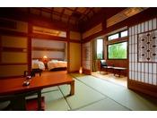 3間特別室※和室10畳+6畳+ツインルーム。当館自慢のお部屋で、とっておきのひと時をお過ごしくださいませ。