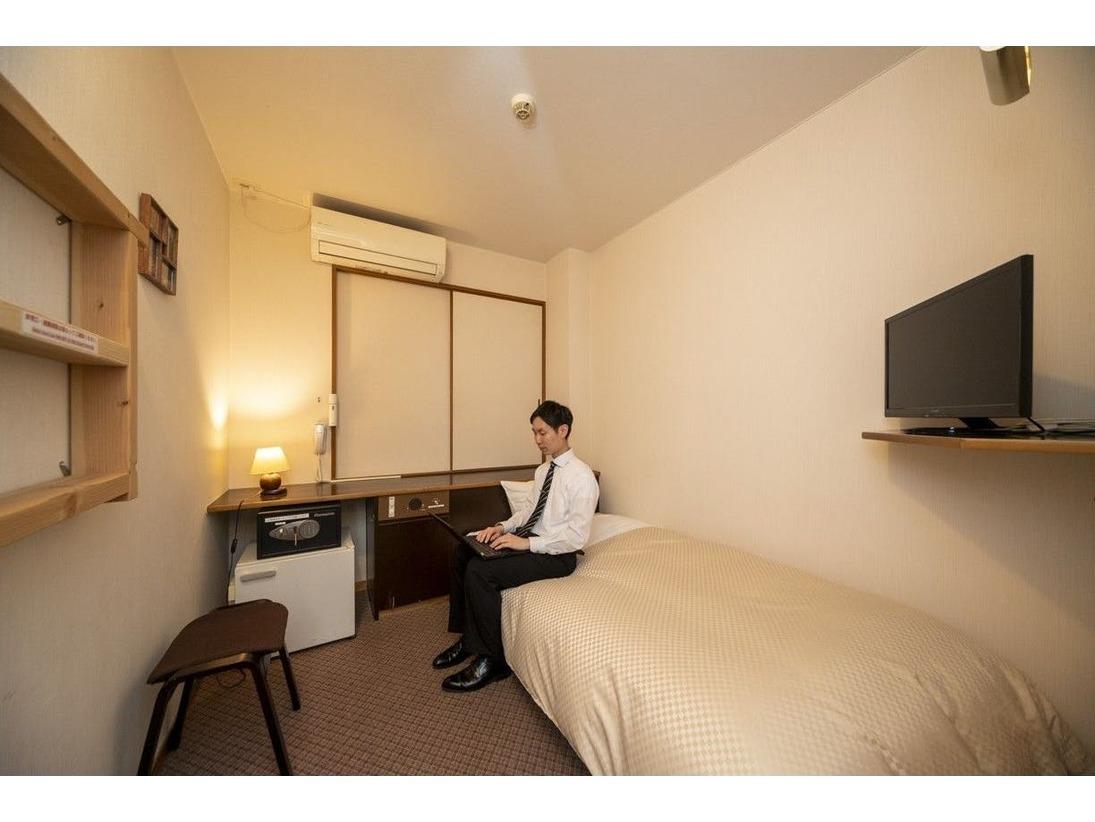シングルルーム。独り占めの空間で思うままのひとときをお過ごしください♪