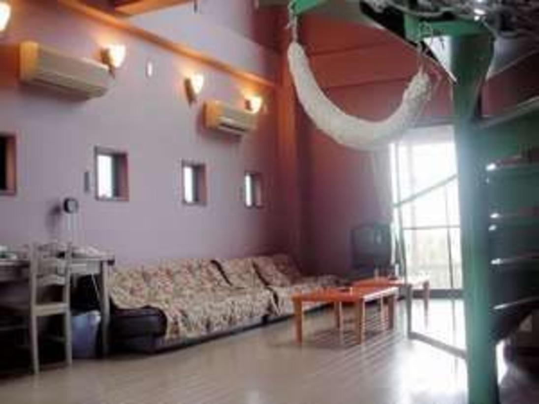 コテージ1階はゆったりとしたリビングスペース。畳の和室もあります。