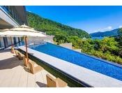 芦ノ湖を眺めながら足湯をお楽しみください。