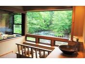 阿寒川(ペツ:川)に面し、シングルベッド2台とリビングのソファーベッド1台を配置し、リビングのソファーをエキストラベッドとしてご利用しますと3名様までご宿泊いただけます。
