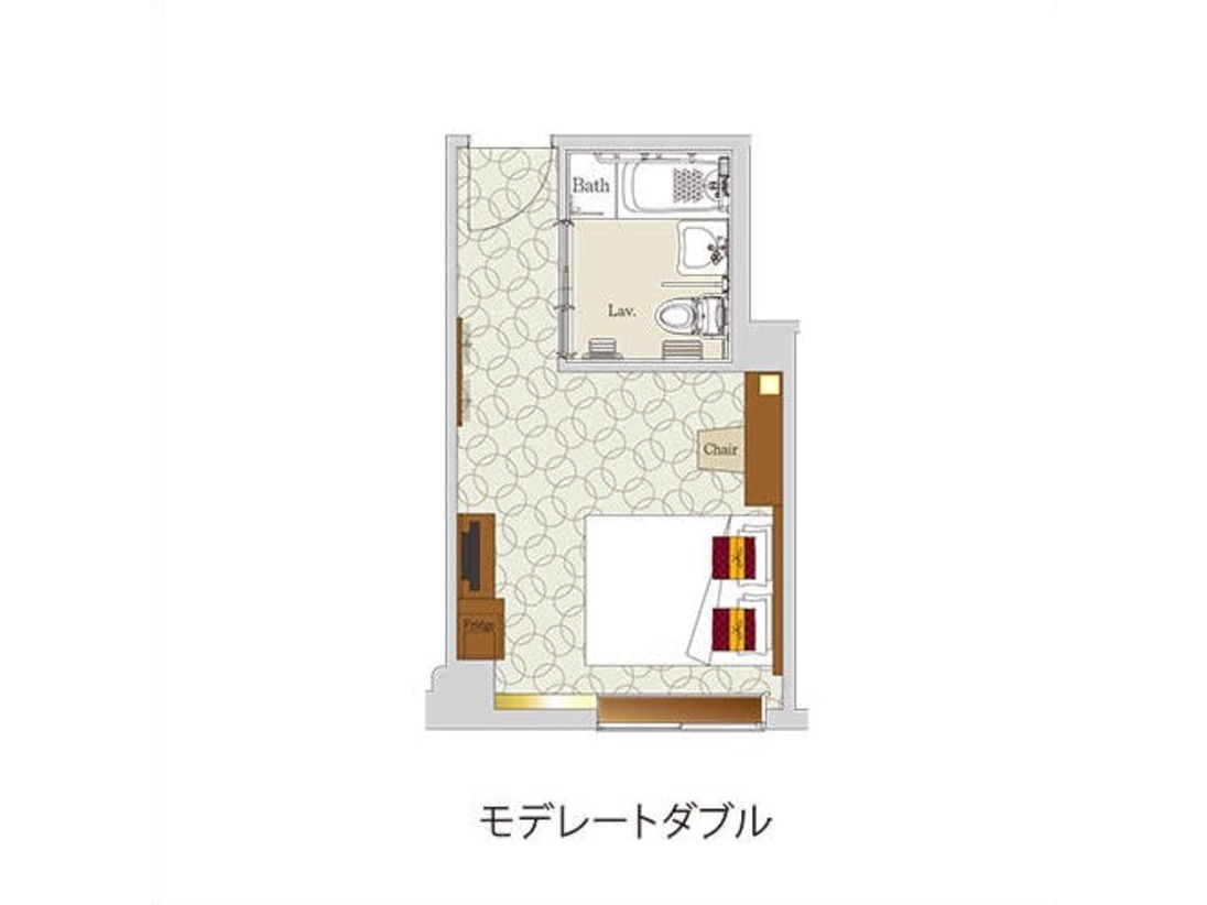 【モデレートダブル/平面図】◇便利なデスクスペース◇くつろぎのソファコーナー