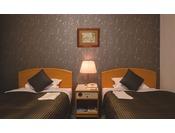 スタンダードツインルーム 26平米幅110cmのベッドを使用 ※写真は一例です