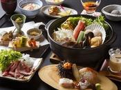 ご夕食は北海道の海の幸・山の幸を贅沢にあしらった和食会席。※写真はイメージです
