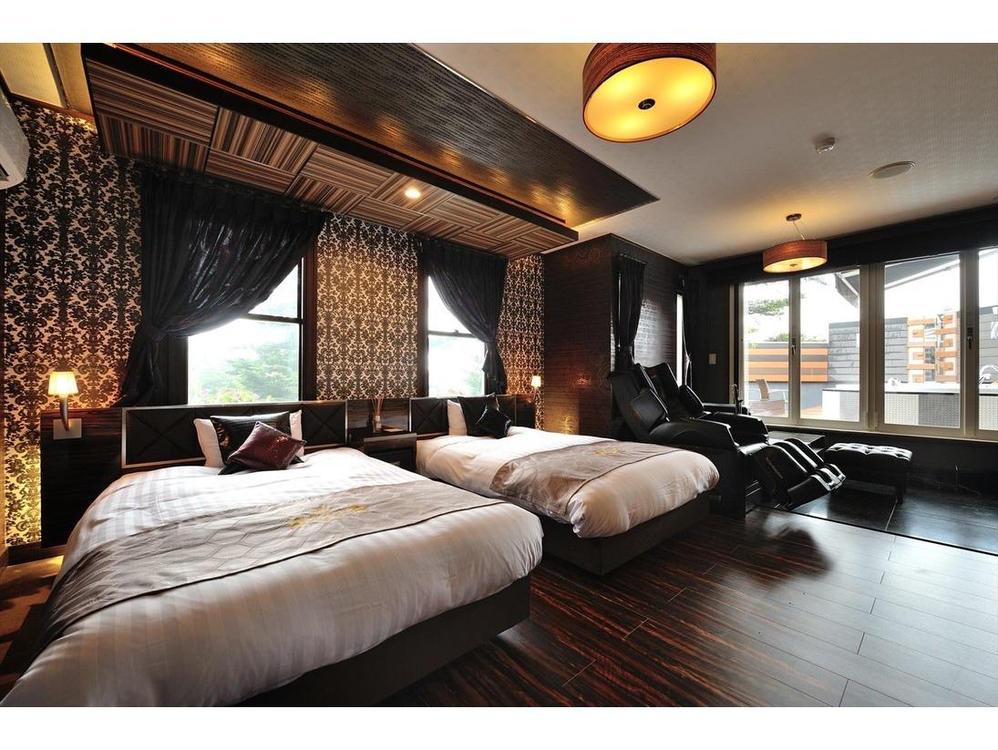 ガーデンスイート『スリジエ』寝室
