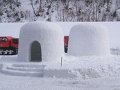 秋田の冬といえば「かまくら」記念撮影に最適です!