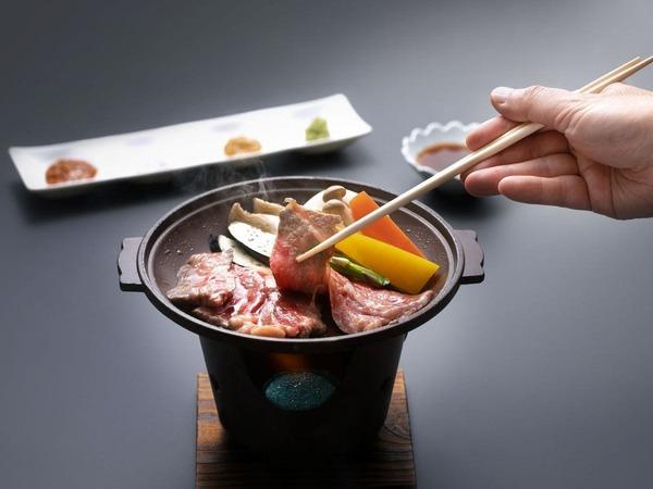 秋田錦牛サーロインと季節野菜の陶板焼き