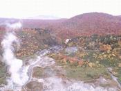 玉川温泉の紅葉 ドローン撮影画像