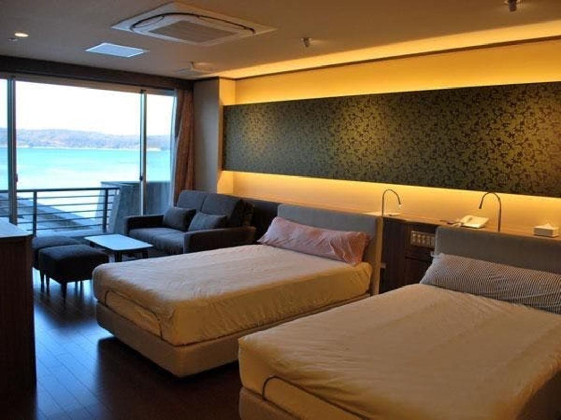 こだわりの寝具やテレビ、そして客室露天風呂(温泉)が話題の新客室