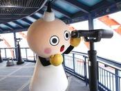 京都タワー展望室へようこそ♪運がよければたわわちゃんに出会えるかも!