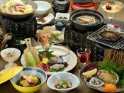 """あわび料理の調理方法が3種類から選べる青山やまとの""""スタンダードプラン""""【青山会席】。"""