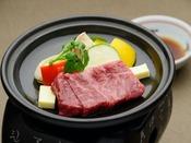 【追加料理】和牛サーロインの陶板焼き:80グラム 4,000円(消費税別)