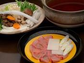 【追加料理】金目鯛のしゃぶしゃぶ:4,000円(消費税別)
