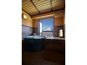 富士山側 露天風呂付客室 お風呂