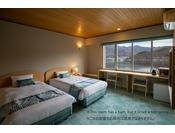 湖畔夜景のきれいな洋室ツイン