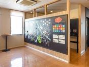 【コミュニケーションボード】ホテルでの『SDGs』への取り組みをご紹介。お客様と作り上げる空間です。