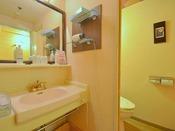 <桜ことばフロア> 洗面所・お手洗いです。 室内に内湯はございますが、沸かし湯となります。