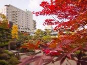 秋の日本庭園/紅葉は10月中旬~11月上旬