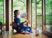 夏の日本庭園お休み処「忍庵」/富士山麓の涼風を愉しむ