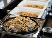 【朝食】北海道らしい「ジンギスカン」(一例)