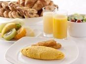 """約60種類のメニュー(アイテム)だからこそ出来る""""貴方のコンディションにあった朝食"""" をご提供いたします。"""