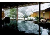 水心鏡「満月風呂」雪